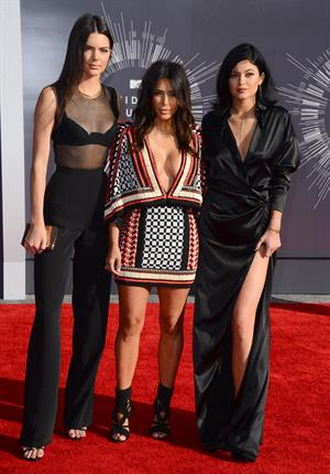 Kendall Jenner, Kim Kardashian and Kylie Jenner- MTV Video Music Awards Aug. 24, 2014