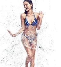 Shanina Shaik in a bikini