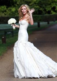 Abigail Clancy wedding day June 30, 2011