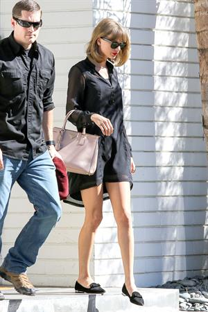Taylor Swift visits her mom August 21, 2014