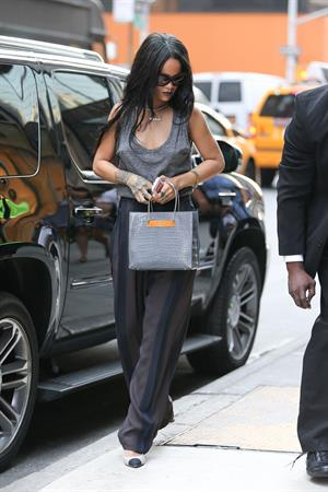 Rihanna arriving at Philippe Chow Restaurant in New York City August 18, 2014