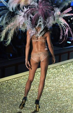 Adriana Lima on the runway at Victoria's Secret Fashion Show 2010