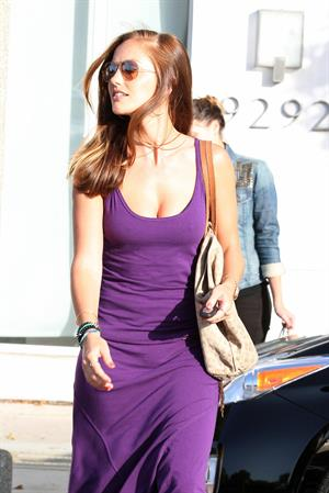 Minka Kelly leaving Byron and Tracy salon in Los Angeles 08 06 12