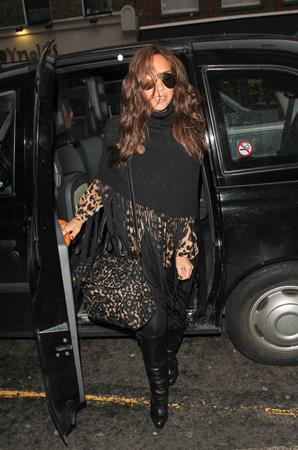 Myleene Klass Leaving The Ivy in London - November 6, 2012