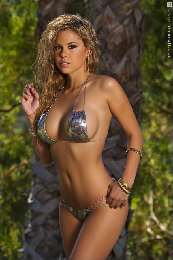 Elle Navarro in a bikini