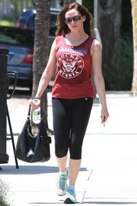 Rose McGowan - Spotted at The Tracey Anderson Gym 29.07.12