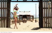 Jin Mei Xin in a bikini