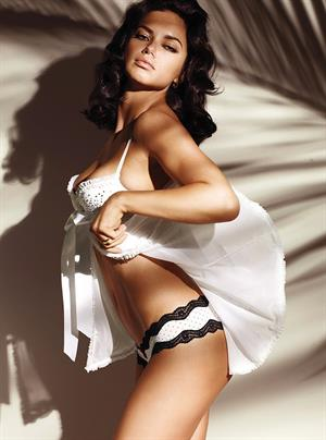 Adriana Lima Victorias Secret black and white Lingerie Photoshoot