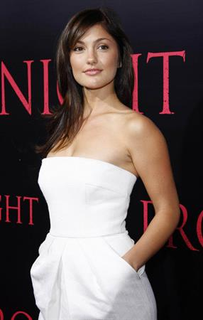 Minka Kelly Prom Night premiere at the Cinerama Dome on April 9 2008 in Los Angeles California