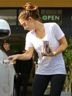 Minka Kelly at Earthbar in West Hollywood 11/9/12