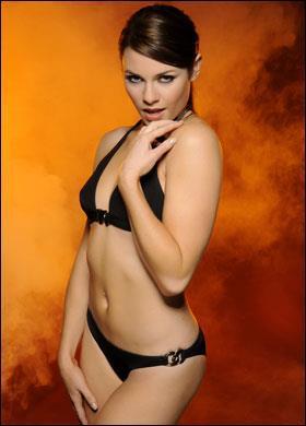 Alison Carroll in a bikini