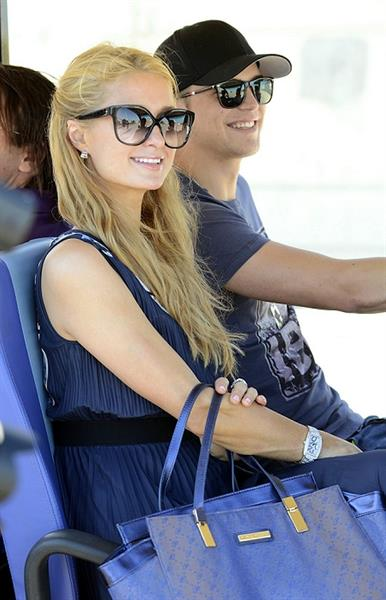 Paris Hilton Visting  Amnesia Port Forum Project  August 9, 2013