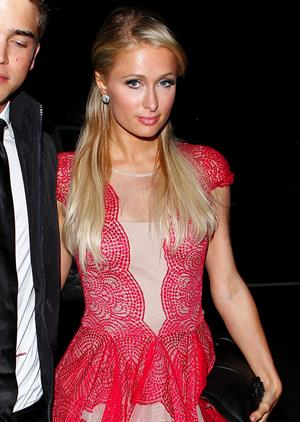 Paris Hilton Christmas dinner at Mr Chow December 15, 2012