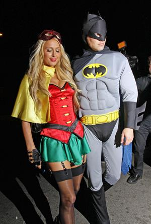 Paris Hilton heads to The Greystone Nightclub's Halloween party in West Hollywood 10/31/12
