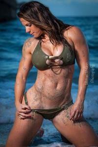 Linda Durbesson in a bikini