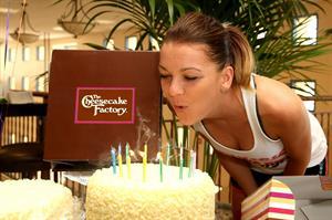 Agnieszka Radwanska celebration of her birthday during the BNP Parabas Open - March 6, 2014