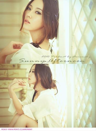 Miranda Zhao Yu Fei in lingerie