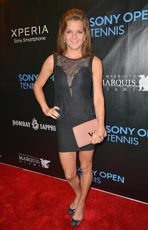 Agnieszka Radwanska arrives at Sony Open Player Party 2013 at JW Marriott Marquis in Miami March 19, 2013