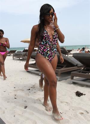 Alexandra Burke at Miami Beach on June 25, 2012
