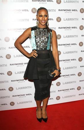 Alexandra Burke Raymond Weil pre Brits dinner in London on January 26, 2012
