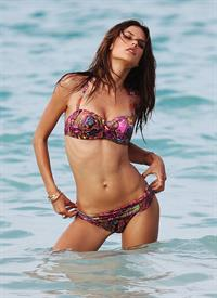 Alessandra Ambrosio in a bikini for a Victoria's Secret photo shoot on July 22, 2010 in St. Barts