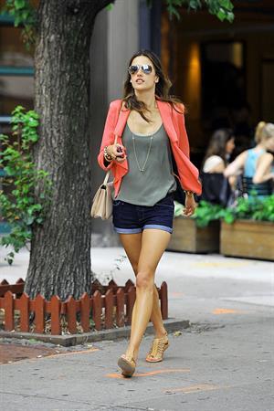 Alessandra Ambrosio Bar Pitti in New York City on June 23, 2011