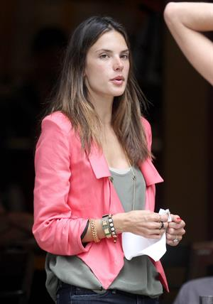 Alessandra Ambrosio Bar Pitti in New York City on June 23, 2011