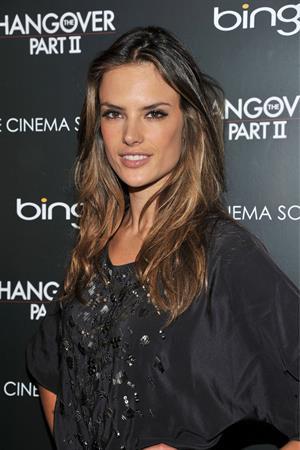 Alessandra Ambrosio Cinema Society Bing screening of the Hangover Part II on May 23, 2011