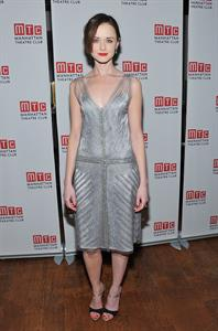Alexis Bledel Regrets off Broadway opening night in New York on March 27, 2012