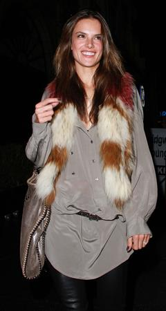 Alessandra Ambrosio arrives at Beso restaurant in West Hollywood on December 3, 2010