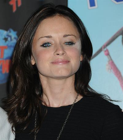 Alexis Bledel to promote Post Grad with a memorabilia donation at Planet Hollywood in New York City