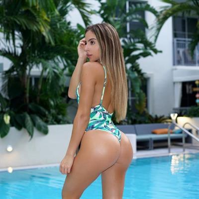 Bruna Lima in a bikini - ass