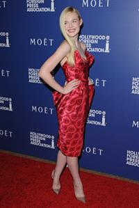 Elle Fanning at Hollywood Foreign Press Associations Grants Banquet on August 14, 2014