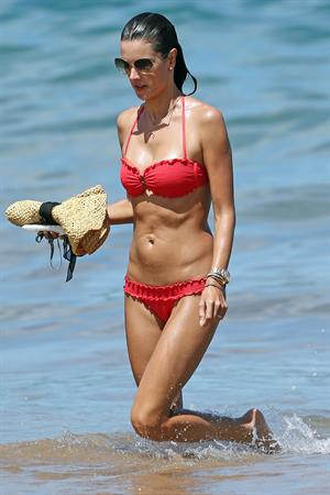 Alessandra Ambrosio in a red bikini in Maui on August 13, 2014