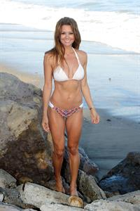 Brooke Burke ~ Bikini at the beach, Malibu, Aug 13, 2014
