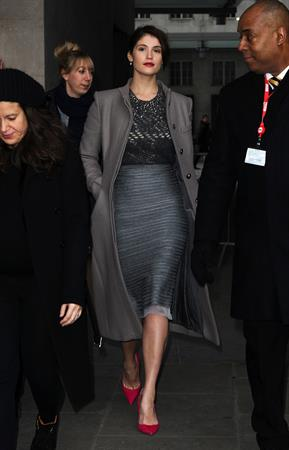 Gemma Arterton - Arrives at the BBC Studios in London (15.02.2013)