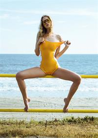 Berit Birkeland in a bikini