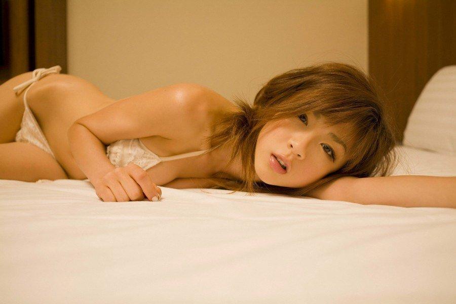 Aki Hoshino in lingerie