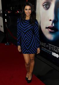Janina Gavankar attends the  Game Of Thrones  Season 3 Los Angeles Premiere on March 18, 2013
