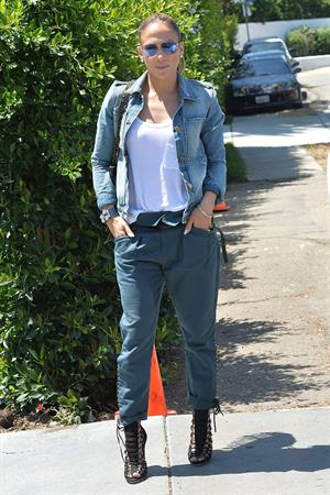 Jennifer Lopez leaves a private party in Brentwood on August 10, 2014