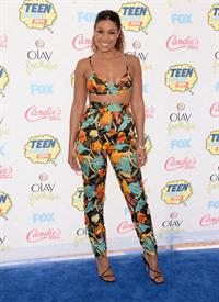 Jordin Sparks attending the 2014 Teen Choice Awards in Los Angeles on August 10, 2014