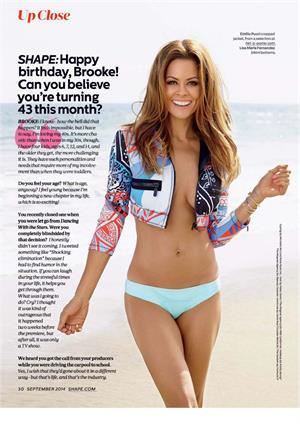 Brooke Burke-Charvet Shape Magazine September 2014