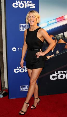 Julianne Hough attends the  Lets Be Cops  Los Angeles premiere on August 7, 2014