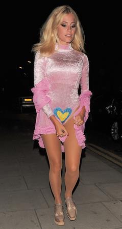 Pixie Lott leaving Freedom Bar in London, England on July 30, 2014