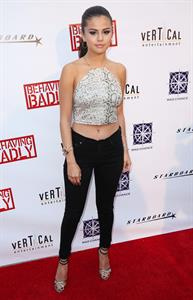 Selena Gomez at the Behaving Badly screening in L.A. July 29, 2014