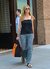 Heidi Klum leaving her hotel in New York on June 29, 2013