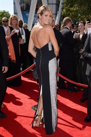 Heidi Klum attending the Creative Arts Emmy Awards in LA on September 15, 2013