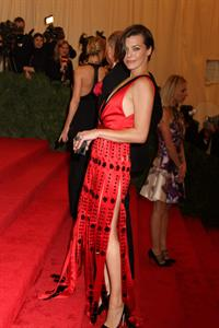 Milla Jovovich attending Metropolitan Museum of Arts Costume Institute Gala, May 7, 2012