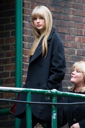 Taylor Swift rehearsal candids for 2013 Victoria's Secret Fashion Show in New York, November 12, 2013