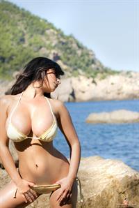 Denise Milani in a bikini